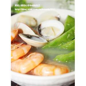 凉瓜海鲜汤