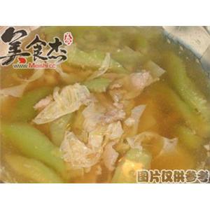 芦笋丝瓜肉片汤