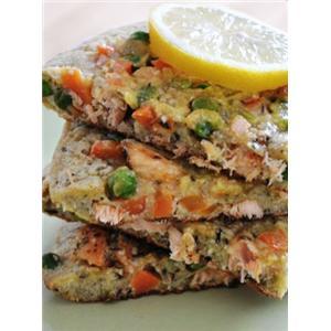 三文鱼蔬菜荞麦饼