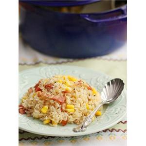 奶油培根玉米焖饭