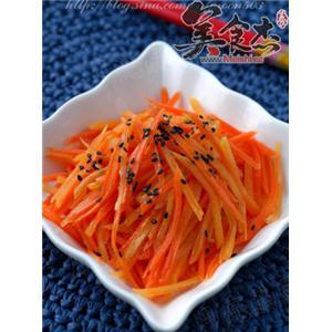 红薯拌胡萝卜