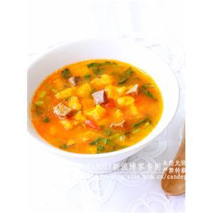 番茄牛肉黄金疙瘩汤