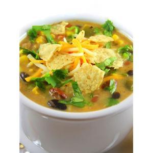 墨西哥风味的玉米饼火鸡汤