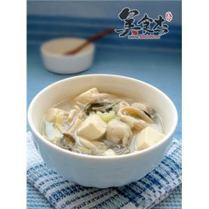 鲜蘑牡蛎豆腐汤