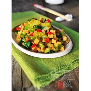 青菜拌豆干