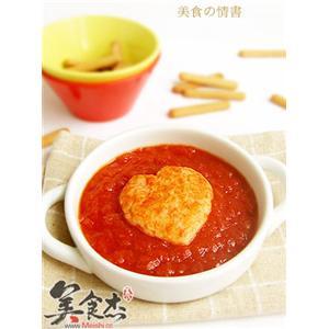心形茄汁虾饼