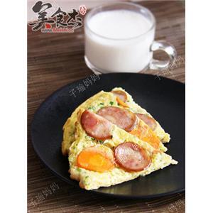 胡萝卜香肠蛋饼