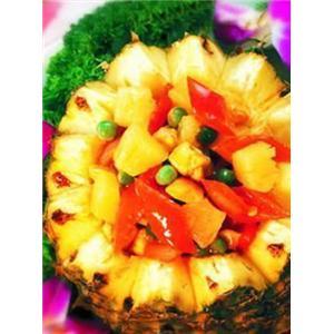 菠萝红虾球