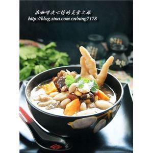 木瓜杂豆鸡肉煲