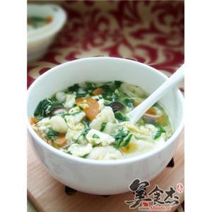 翡翠香菇疙瘩汤