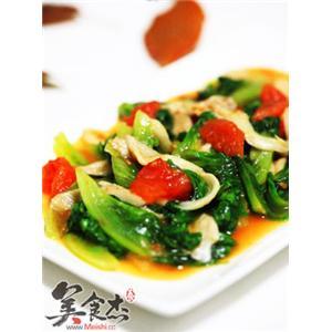 生菜西红柿蘑菇杂炒