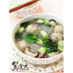 香菇粉丝丸子汤