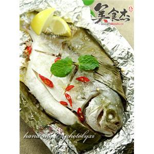 南姜蕉叶盐烤鱼