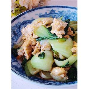 鸡蛋炒油菜