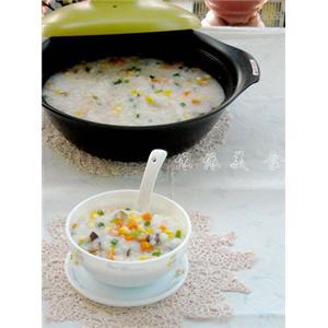 玉米胡萝卜香菇粥