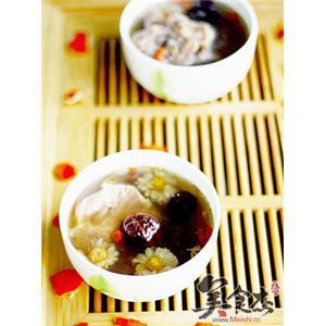 红枣杞菊猪骨汤
