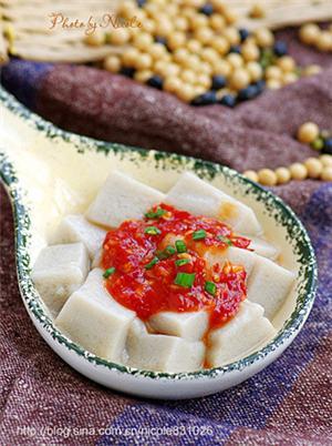 蒜蓉辣酱嫩豆腐