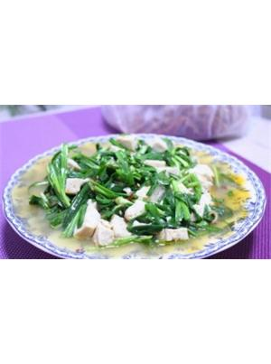 韭菜辣炒豆腐