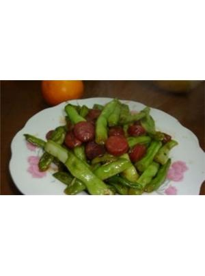 香肠四季豆