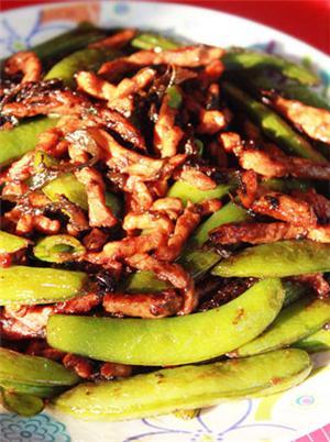 橄榄菜甜豆炒肉丝