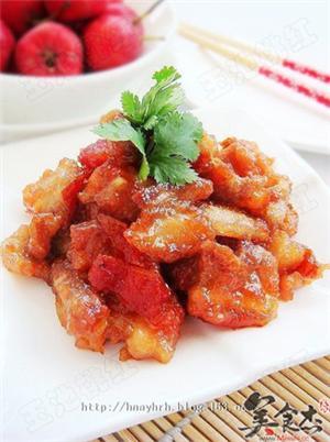 开胃菜:山楂炒肉片