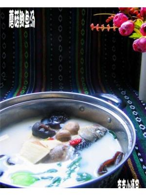 蘑菇鲫鱼汤