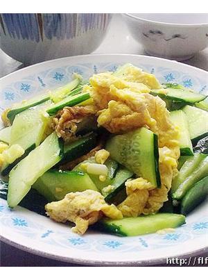 鸡蛋炒黄瓜片