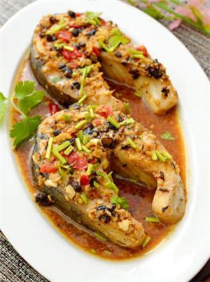剁椒豆豉蒸鱼排