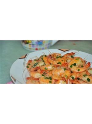 韭菜椒盐虾