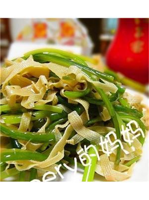 蒜苔拌百叶