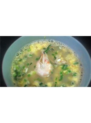 鲜虾榨菜蛋汤