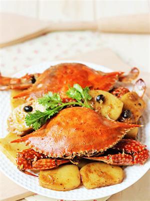 豉香梭蟹炒年糕