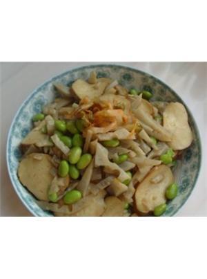 鲜藕炒豆干青豆