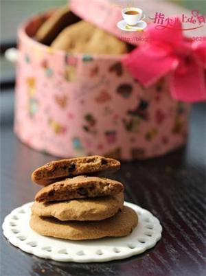 巧克力葡萄干饼干