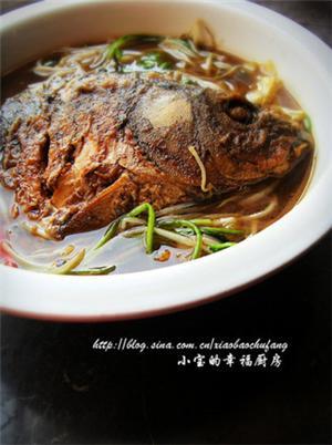 蔬菜鱼头汤