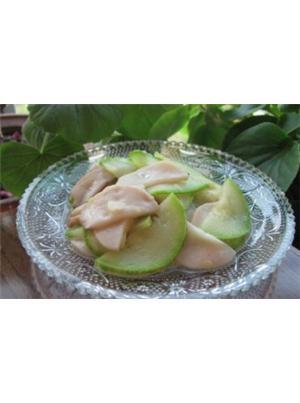 西葫芦炒杏鲍菇