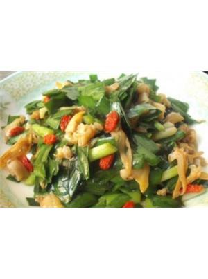 蛤肉炒韭菜