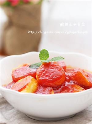 酸甜玉子豆腐