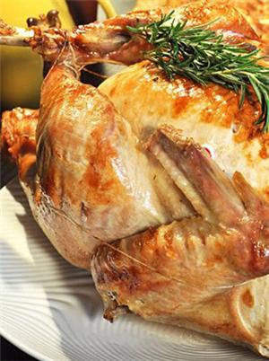 传统美式烤火鸡