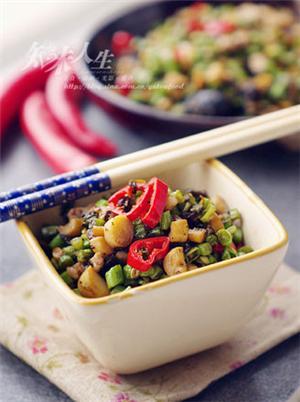 笋丁榄菜豇豆