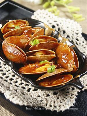 番茄红烩花蛤
