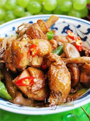 野生菌烧鸡