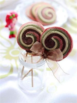 彩色棒棒糖饼干