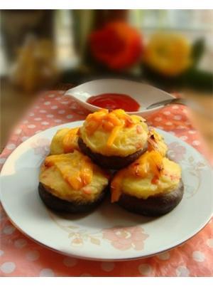 芝士烤香菇
