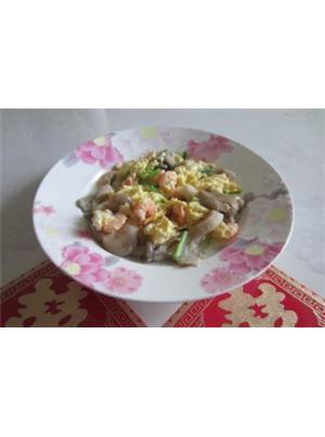平菇虾仁蛋汤