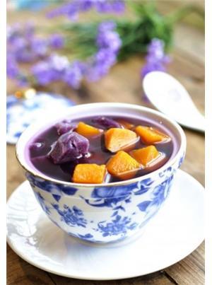 南瓜紫薯糖水