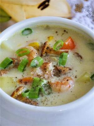 土豆鸡油菌浓汤