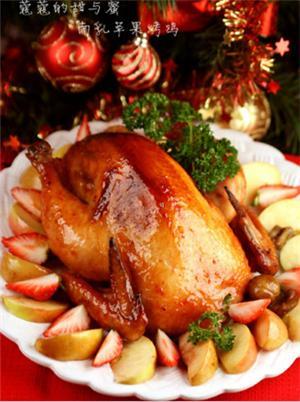 南乳苹果烤鸡