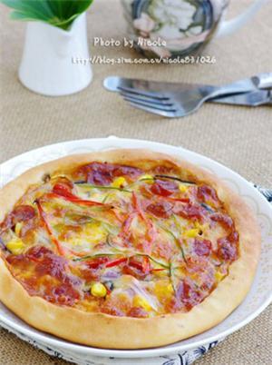 腊肠芝心披萨