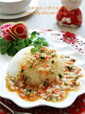 韩式鱿鱼盖浇饭